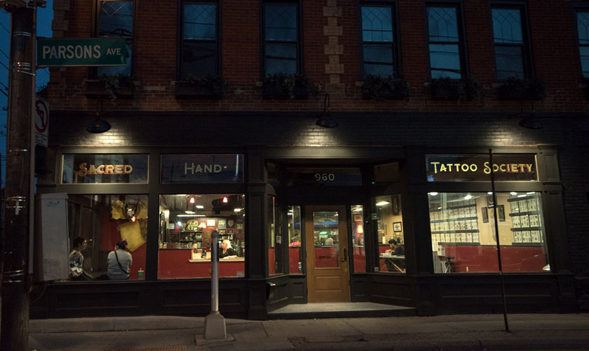 Sacred hand tattoo society big meas for Tattoo shops in columbus